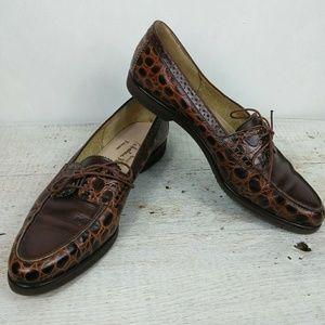 Salvatore Ferragamo Crocodile Loafers Size 10